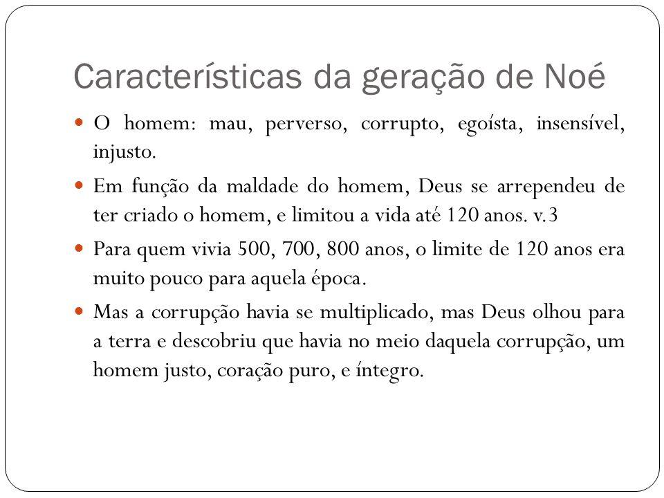 Características da geração de Noé