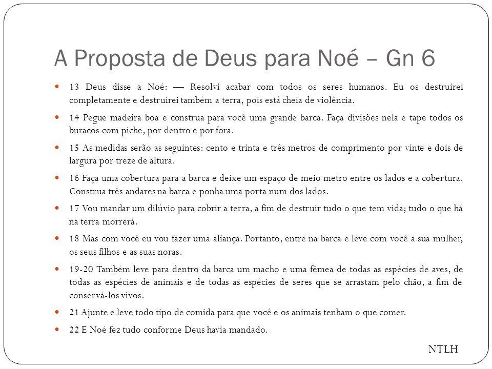 A Proposta de Deus para Noé – Gn 6