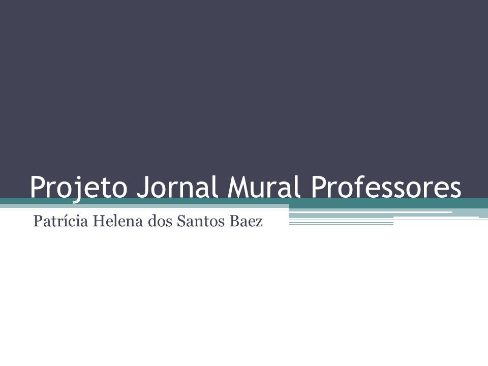 Projeto Jornal Mural Professores