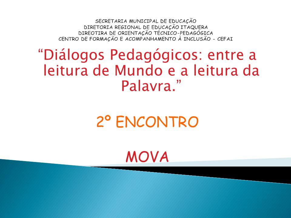 SECRETARIA MUNICIPAL DE EDUCAÇÃO DIRETORIA REGIONAL DE EDUCAÇÃO ITAQUERA DIREOTIRA DE ORIENTAÇÃO TÉCNICO-PEDAGÓGICA CENTRO DE FORMAÇÃO E ACOMPANHAMENTO À INCLUSÃO - CEFAI