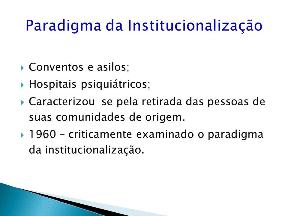 Paradigma da Institucionalização