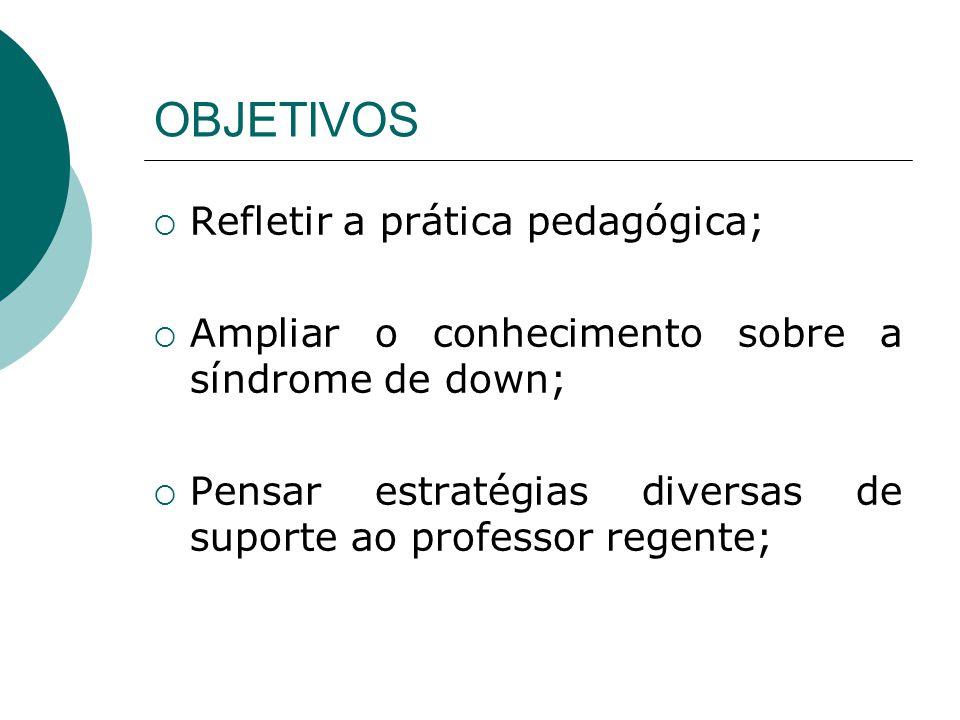 OBJETIVOS Refletir a prática pedagógica;