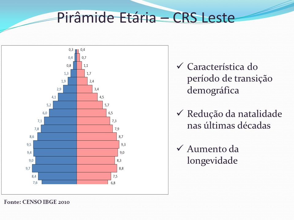 Pirâmide Etária – CRS Leste