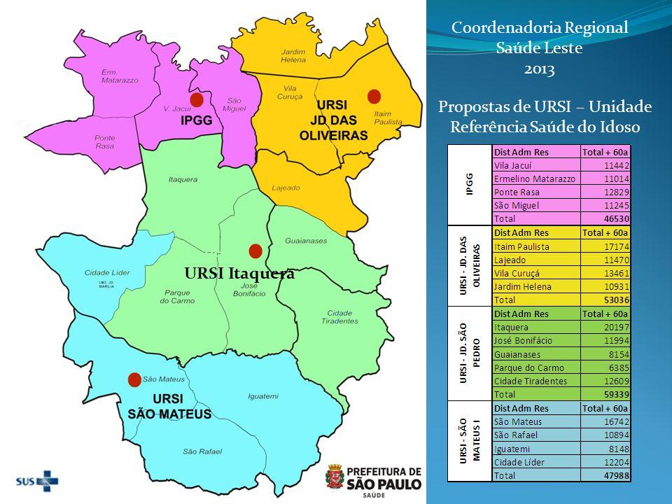 Coordenadoria Regional Saúde Leste 2013