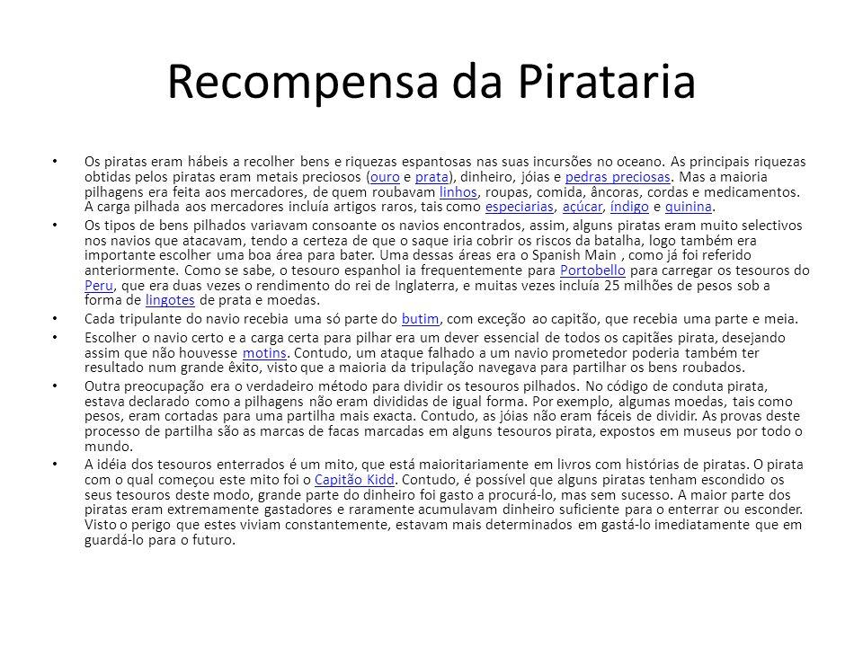 Recompensa da Pirataria