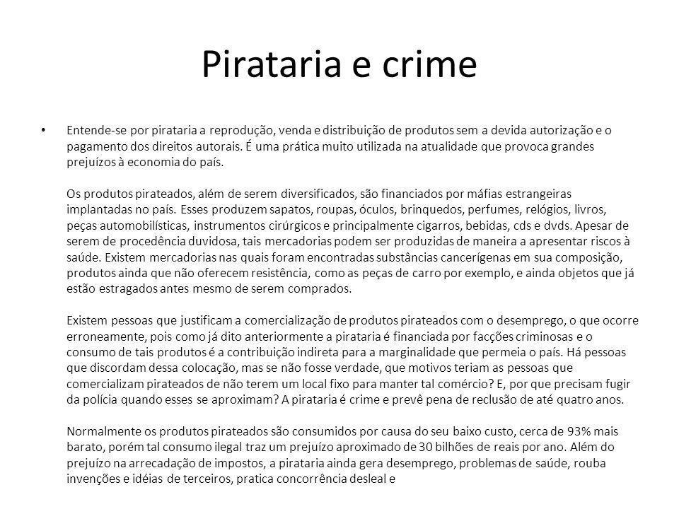Pirataria e crime