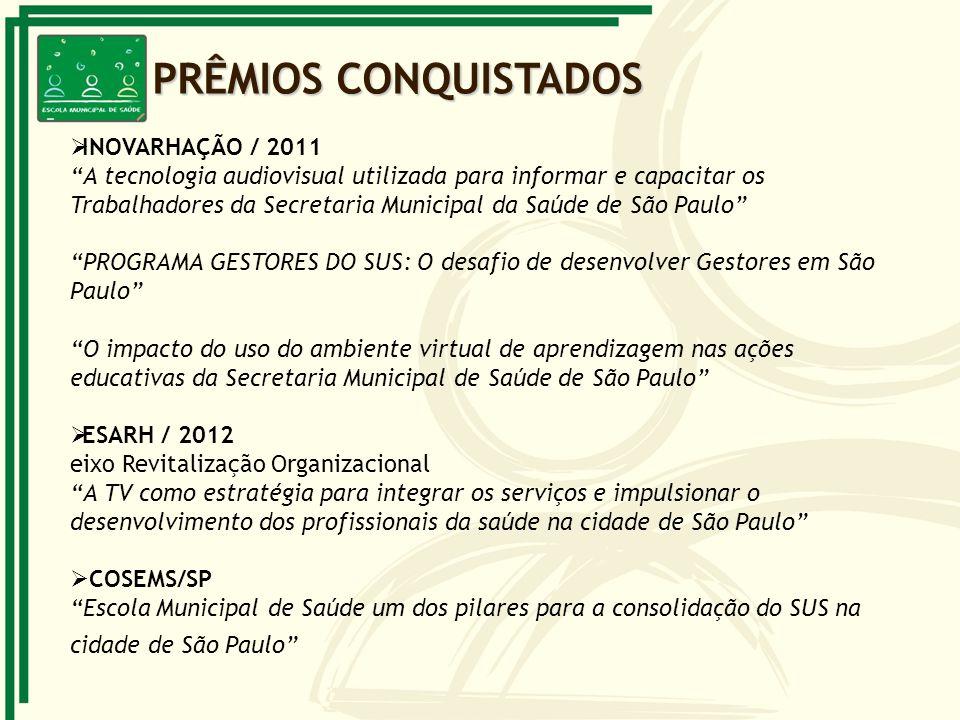 PRÊMIOS CONQUISTADOS INOVARHAÇÃO / 2011