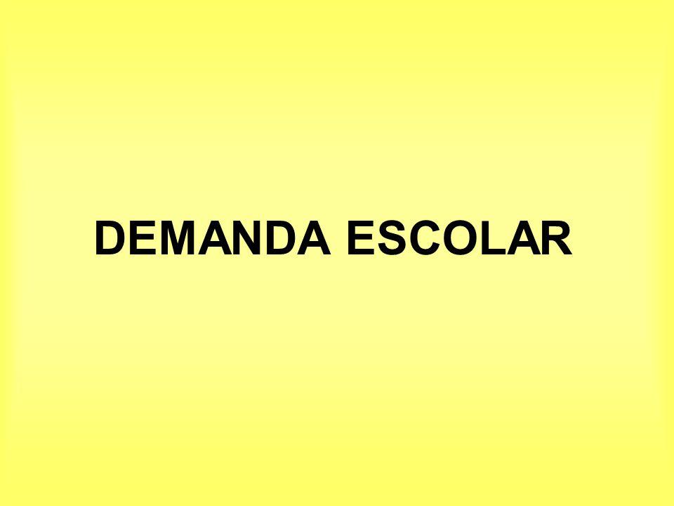 DEMANDA ESCOLAR
