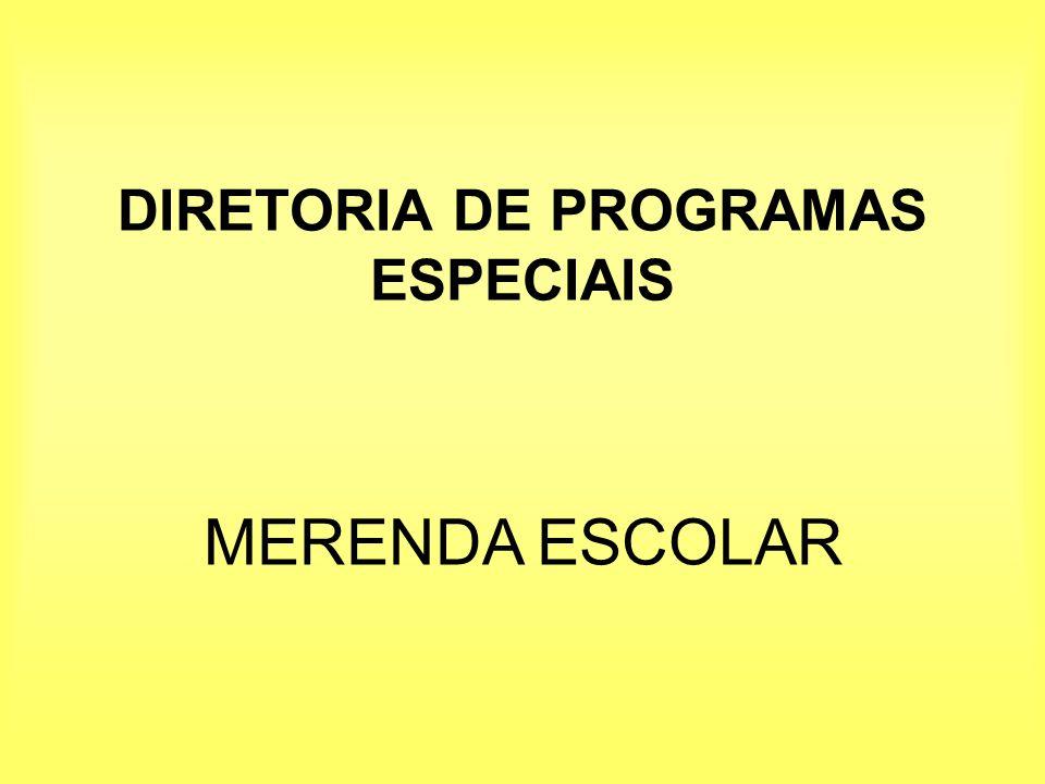 DIRETORIA DE PROGRAMAS ESPECIAIS