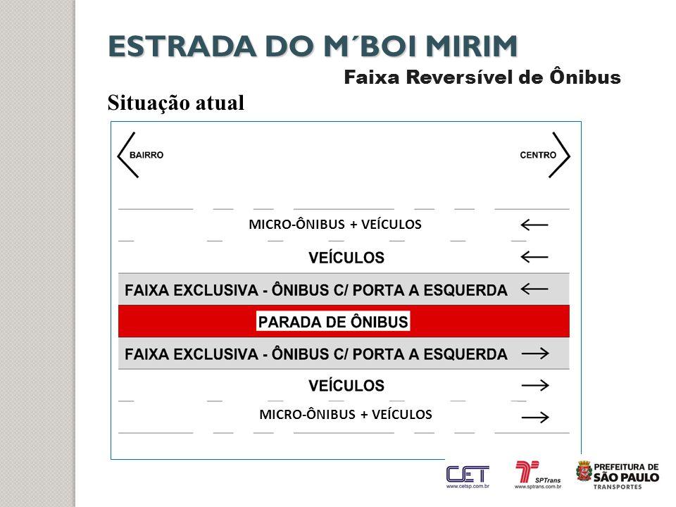 ESTRADA DO M´BOI MIRIM Situação atual Faixa Reversível de Ônibus