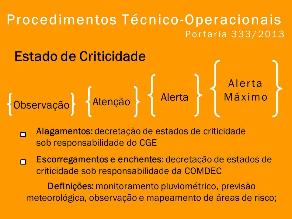Procedimentos Técnico-Operacionais