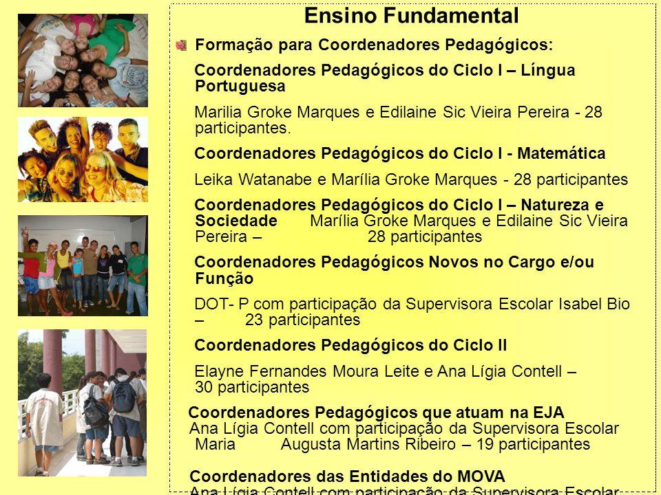 Ensino Fundamental Formação para Coordenadores Pedagógicos: