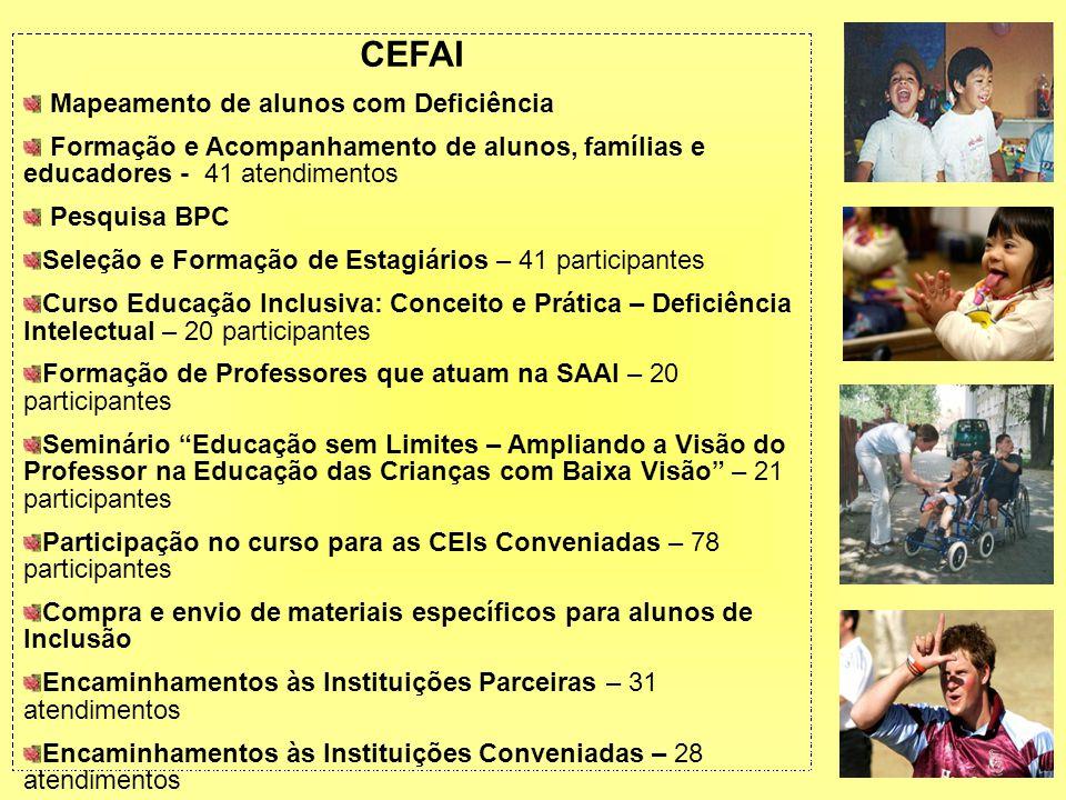 CEFAI Mapeamento de alunos com Deficiência