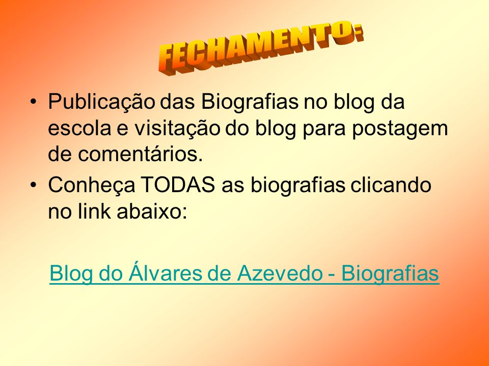 Blog do Álvares de Azevedo - Biografias