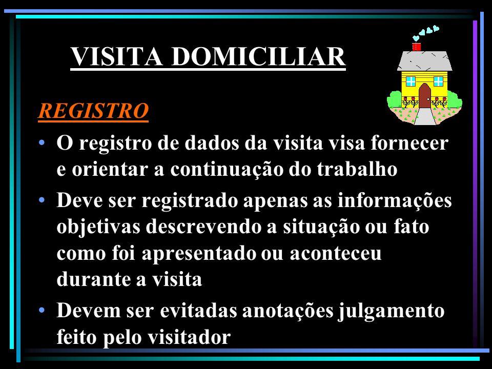 VISITA DOMICILIAR REGISTRO
