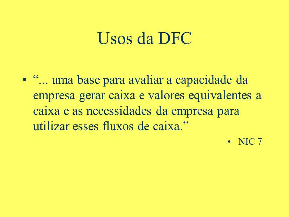 Usos da DFC