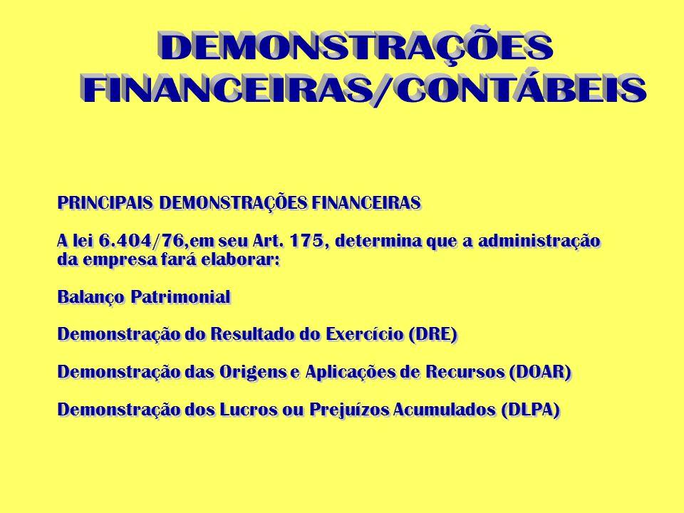 FINANCEIRAS/CONTÁBEIS
