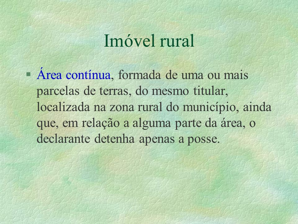 Imóvel rural