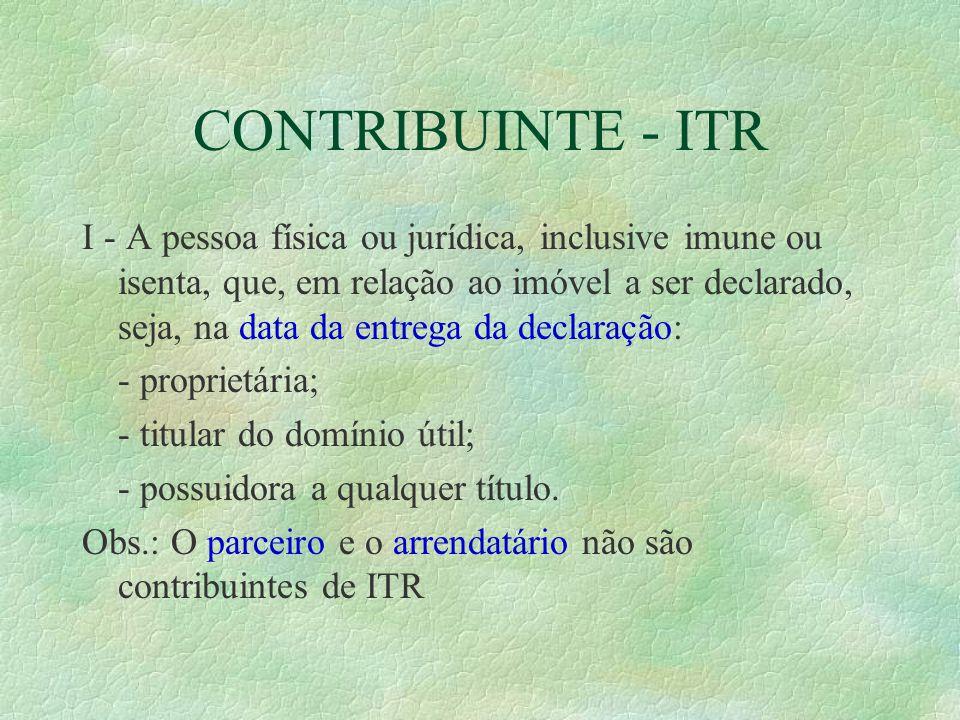 CONTRIBUINTE - ITR