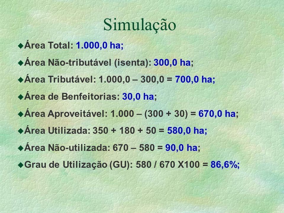 Simulação Área Total: 1.000,0 ha;