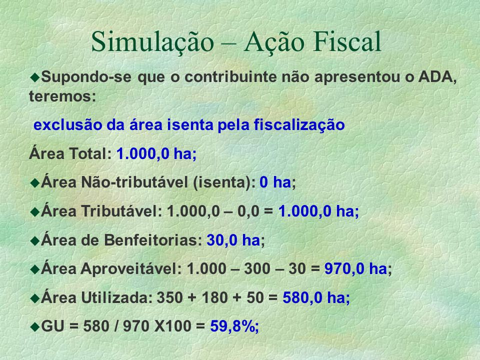 Simulação – Ação Fiscal