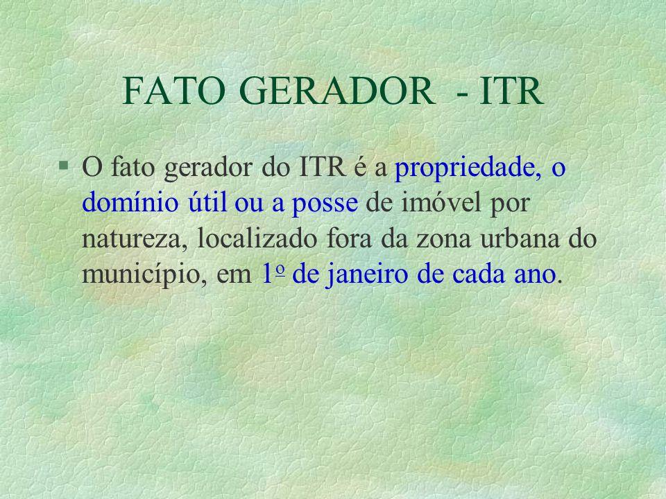 FATO GERADOR - ITR