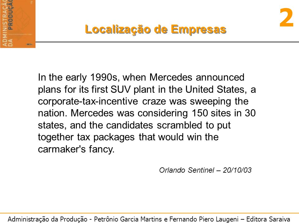 In the early 1990s, when Mercedes announced plans for its first SUV plant in the United States, a corporate-tax-incentive craze was sweeping the nation. Mercedes was considering 150 sites in 30 states, and the candidates scrambled to put together tax packages that would win the carmaker s fancy.