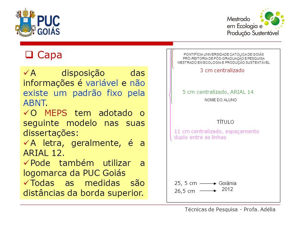 Capa PONTIFÍCIA UNIVERSIDADE CATOLICA DE GOIÁS. PRÓ-REITORIA DE PÓS-GRADUAÇÃO E PESQUISA. MESTRADO EM ECOLOGIA E PRODUÇÃO SUSTENTÁVEL.