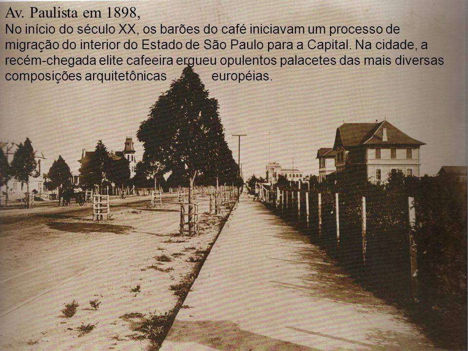 Av. Paulista em 1898,