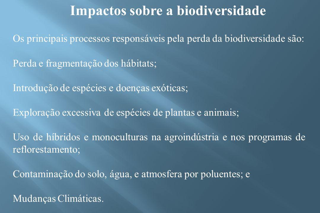 Impactos sobre a biodiversidade