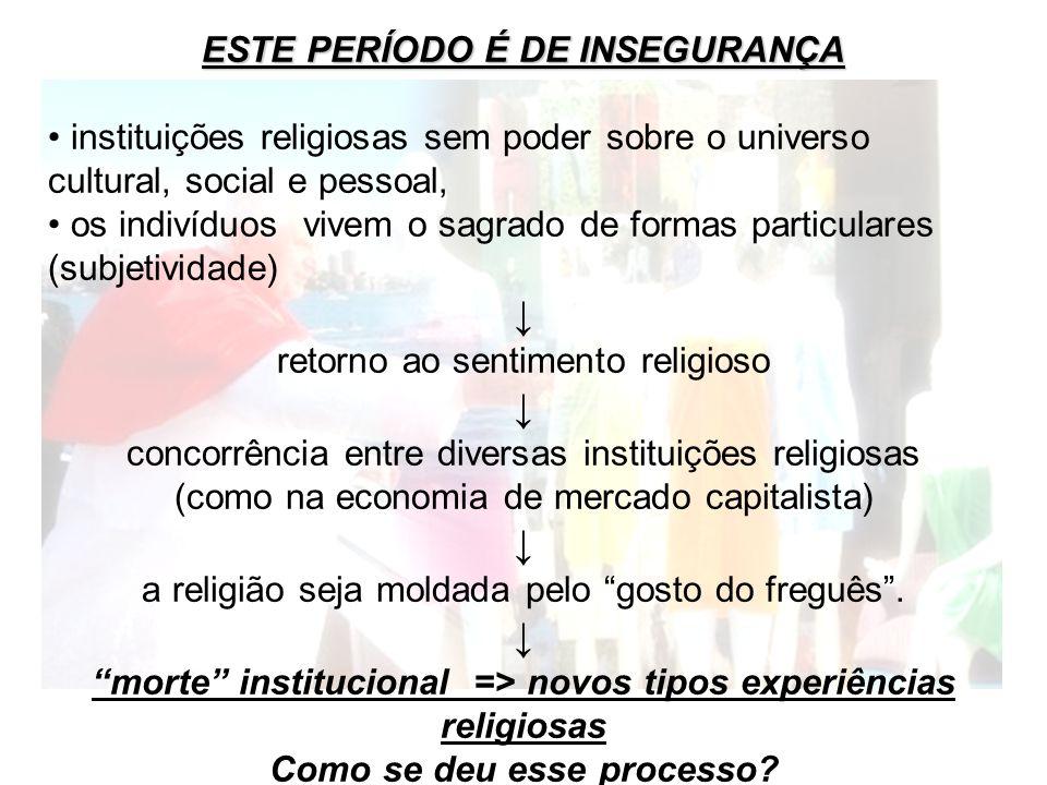 ↓ ESTE PERÍODO É DE INSEGURANÇA