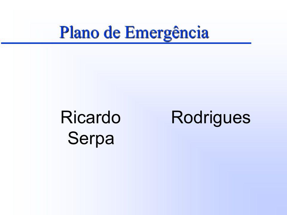 Plano de Emergência Ricardo Rodrigues Serpa