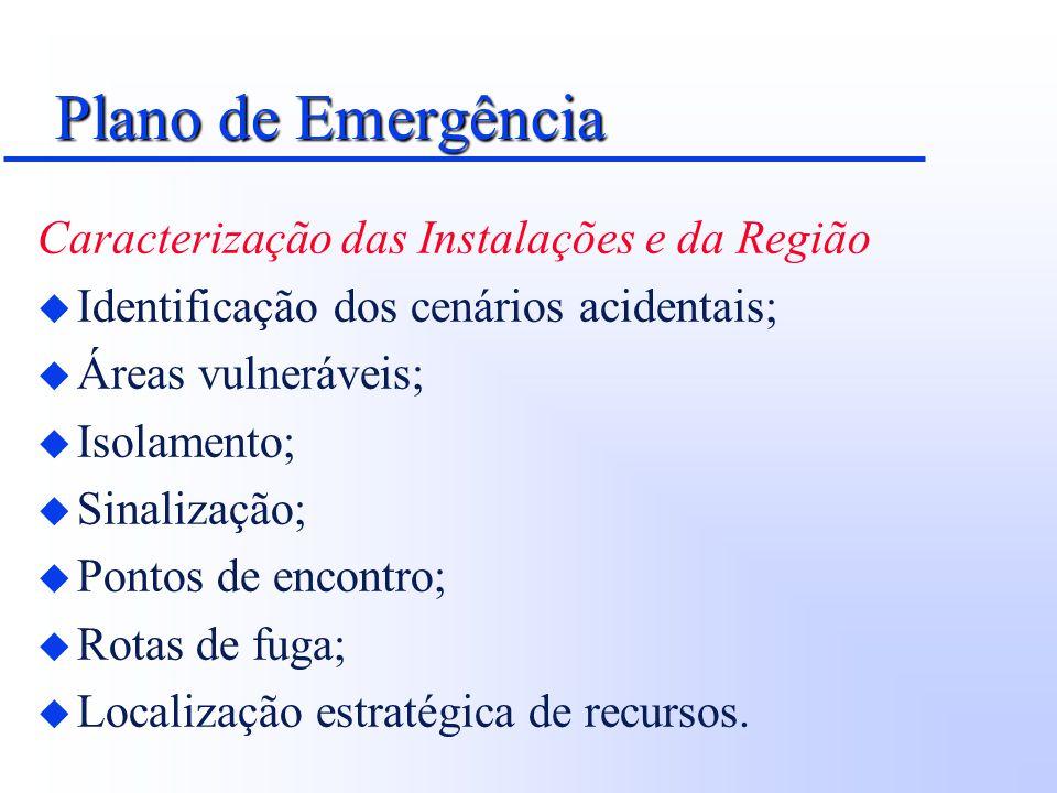 Plano de Emergência Caracterização das Instalações e da Região