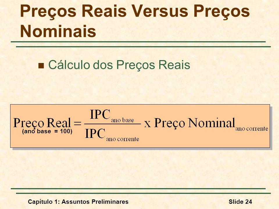 Preços Reais Versus Preços Nominais