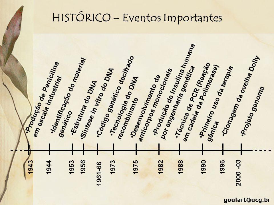 HISTÓRICO – Eventos Importantes