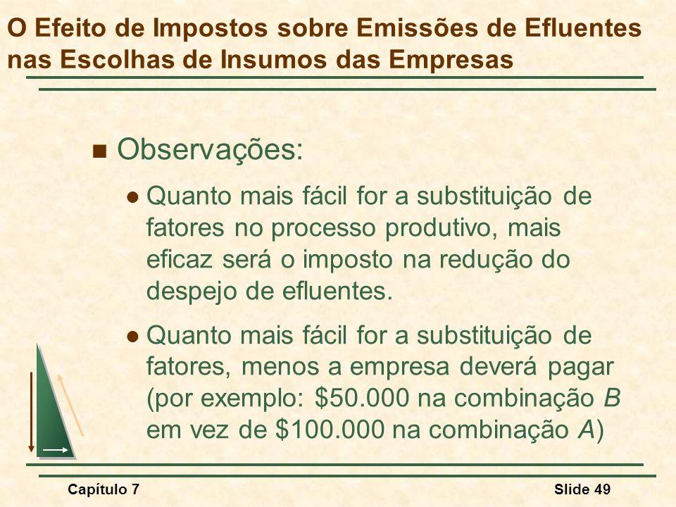 O Efeito de Impostos sobre Emissões de Efluentes nas Escolhas de Insumos das Empresas