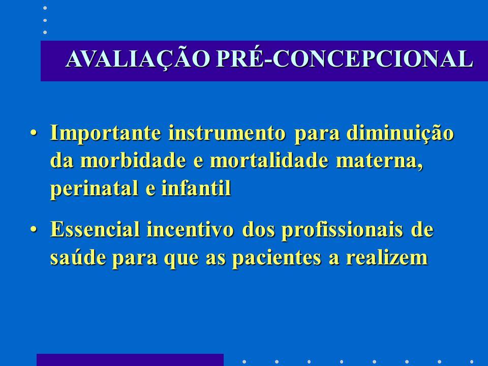 AVALIAÇÃO PRÉ-CONCEPCIONAL