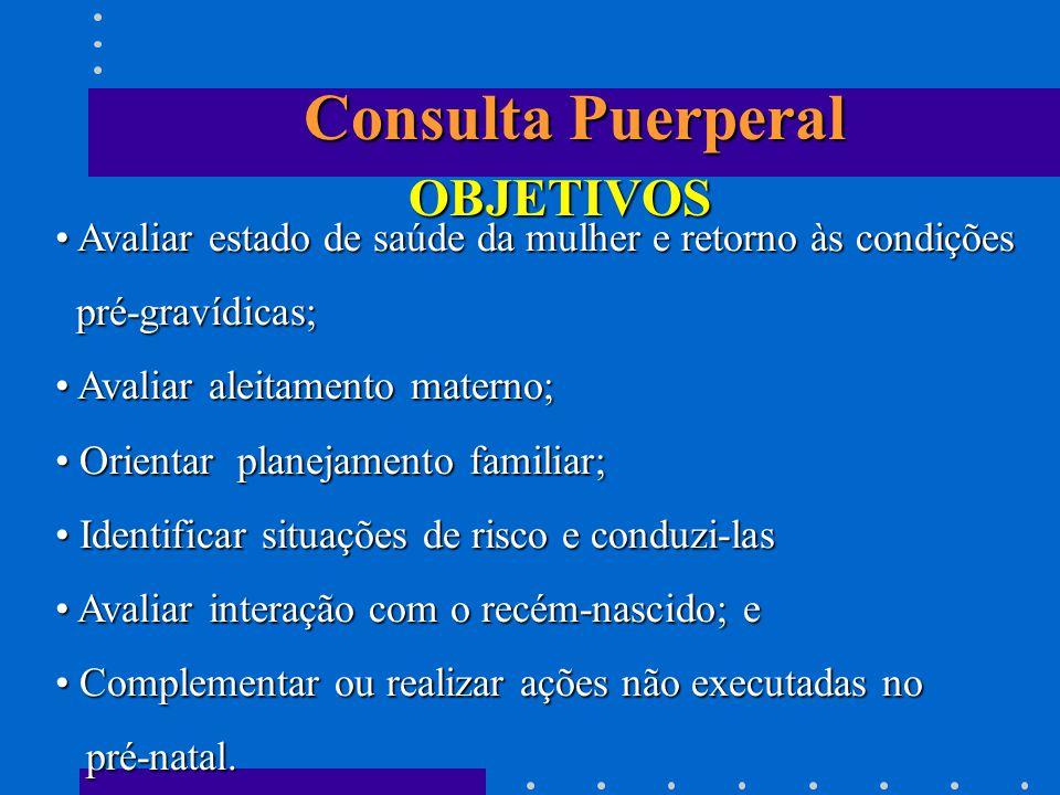 Consulta Puerperal OBJETIVOS