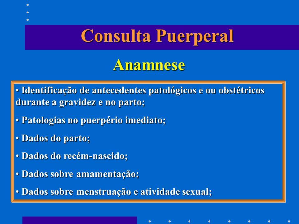 Consulta Puerperal Anamnese