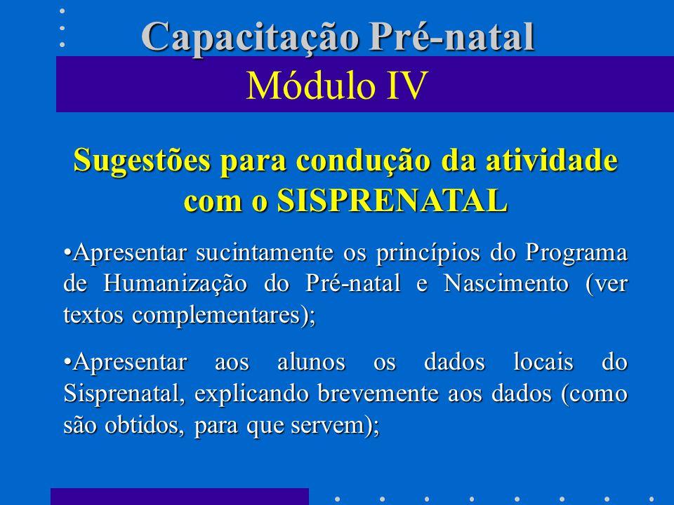 Capacitação Pré-natal Módulo IV