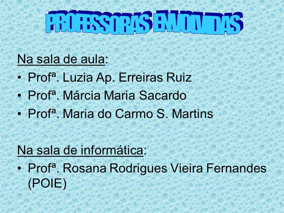 PROFESSORAS ENVOLVIDAS