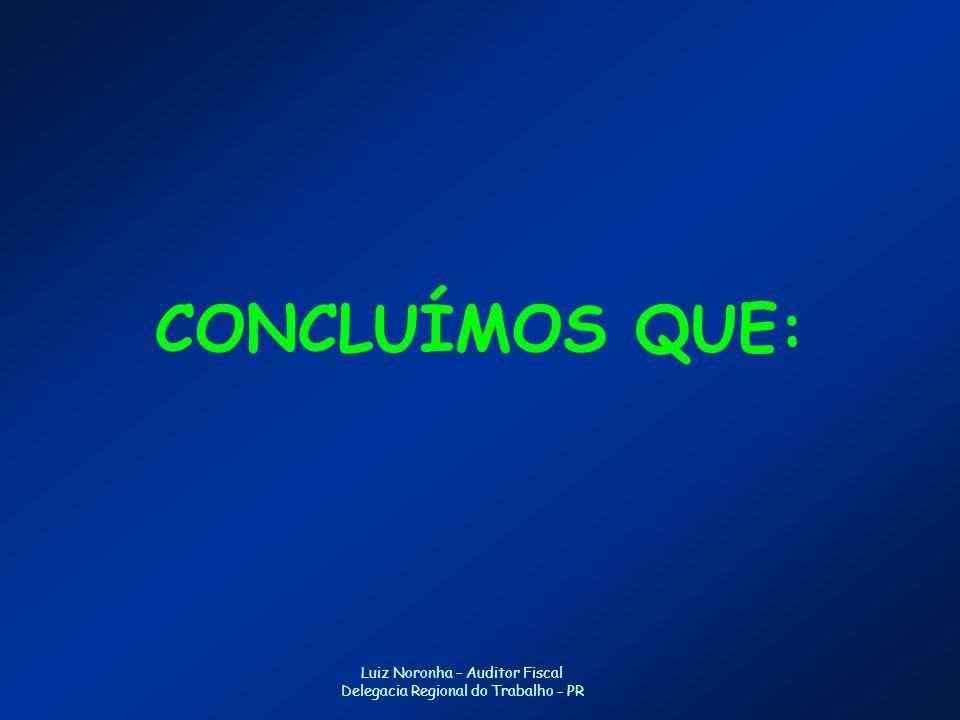 CONCLUÍMOS QUE: Luiz Noronha – Auditor Fiscal
