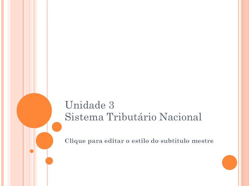 Unidade 3 Sistema Tributário Nacional