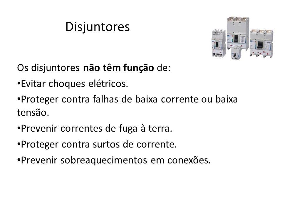 Disjuntores Os disjuntores não têm função de: