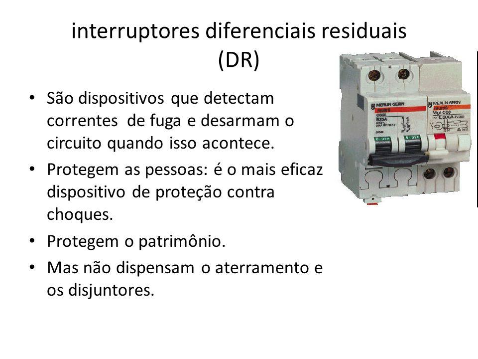 interruptores diferenciais residuais (DR)