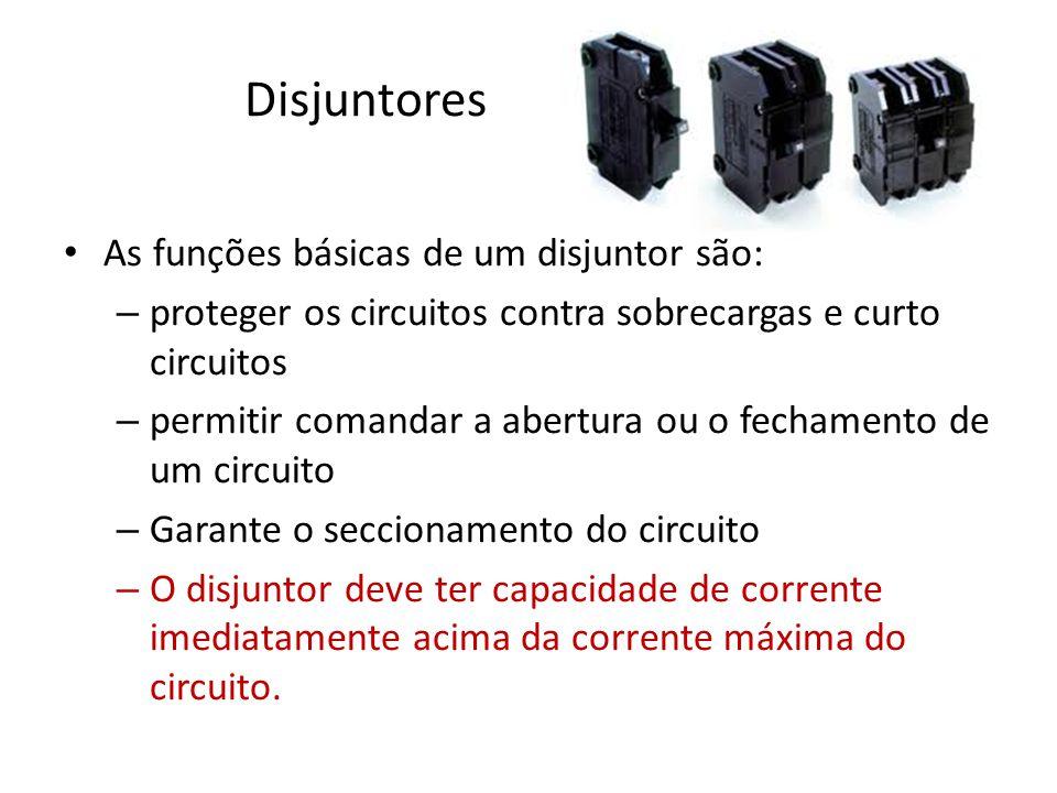 Disjuntores As funções básicas de um disjuntor são: