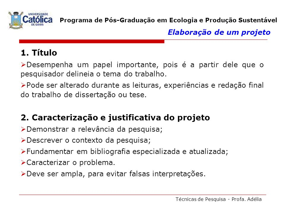 Programa de Pós-Graduação em Ecologia e Produção Sustentável