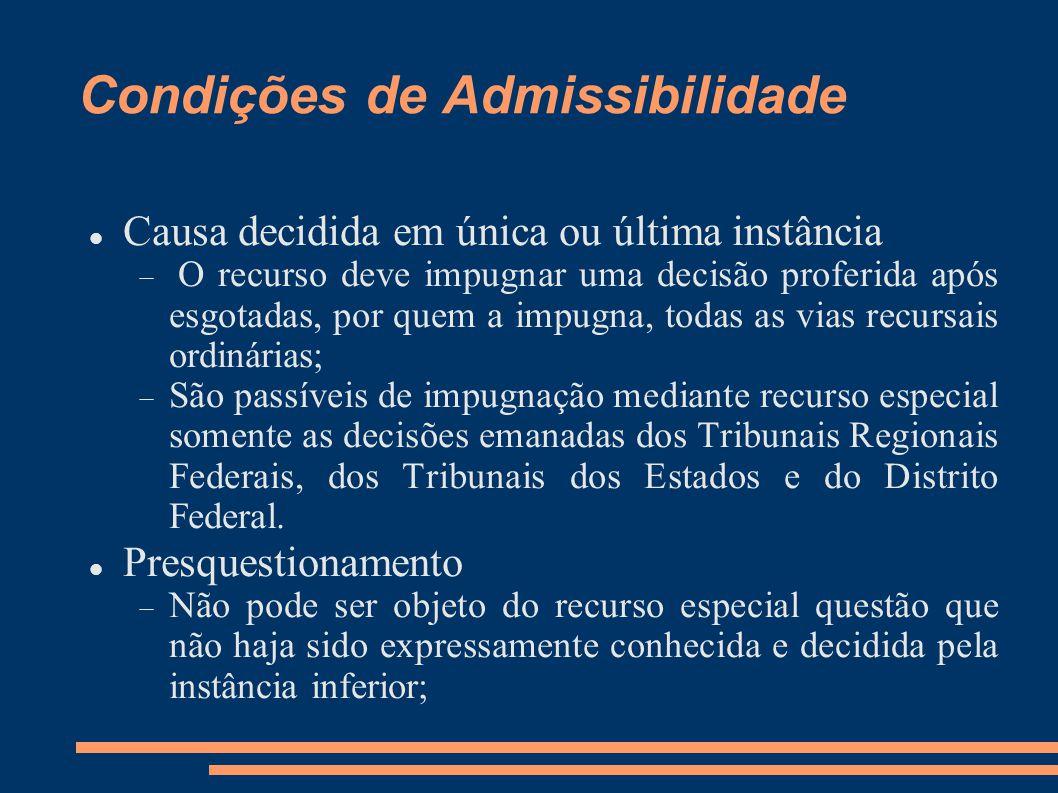 Condições de Admissibilidade