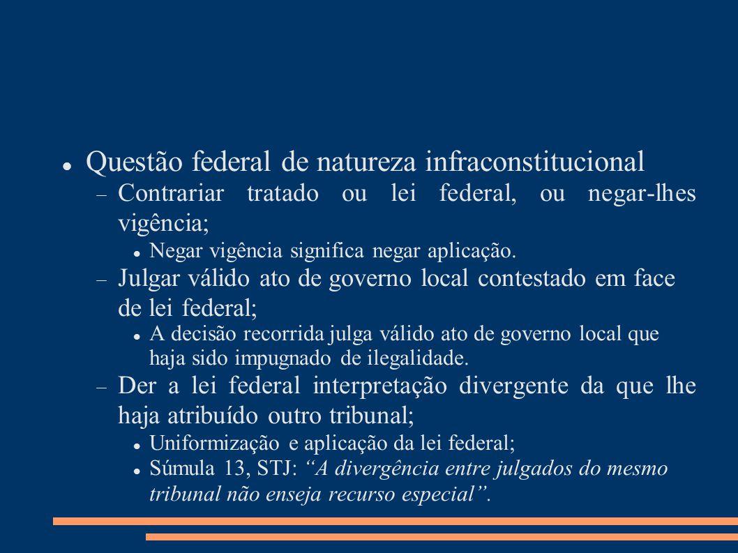 Questão federal de natureza infraconstitucional