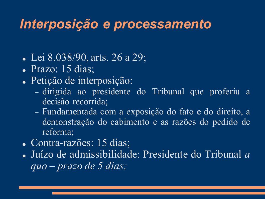 Interposição e processamento